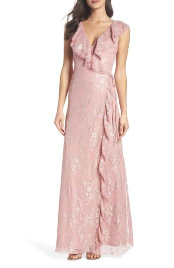Mariage - Heartloom Rio Ruffle Lace Wrap Gown