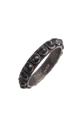 Hochzeit - Armenta New World Black Spinel Sterling Silver Stackable Ring