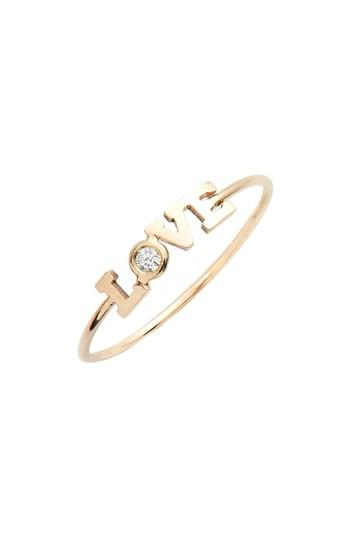 Wedding - Zoe Chicco Itty Bitty Diamond Love Stacking Ring