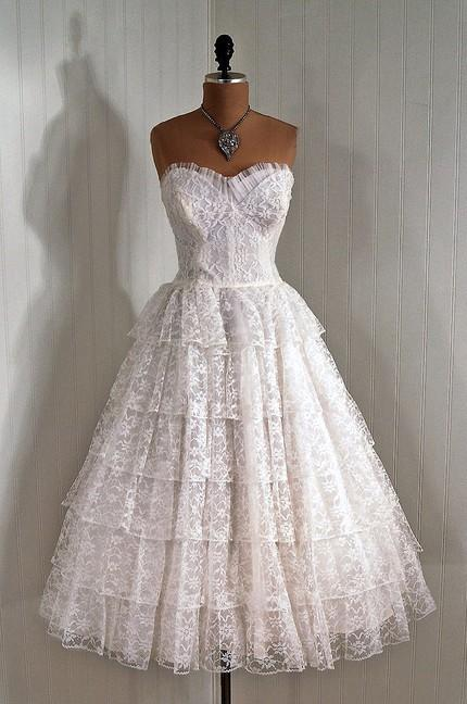 50s Wedding - 50s Lace Wedding Dress #789804 - Weddbook