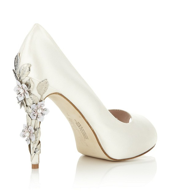 Genial Comfortable And Glamorous Harriet Wilde Exclusive Sakura Silk Satin Peep  Toe Bridal Wedding Pumps