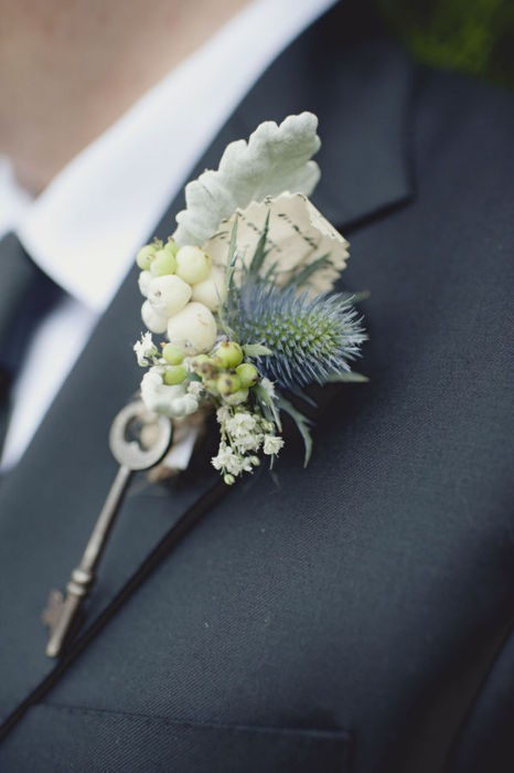 Wedding - Vintage Boutonniere  for Groom