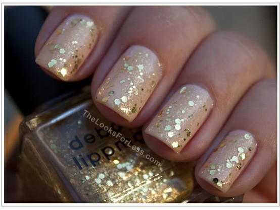 Easy And Gorgeous Glitter Wedding Nail Art Design