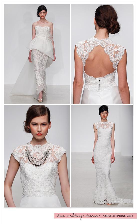 amsale amsale spring 2013 lace wedding dresses 792443
