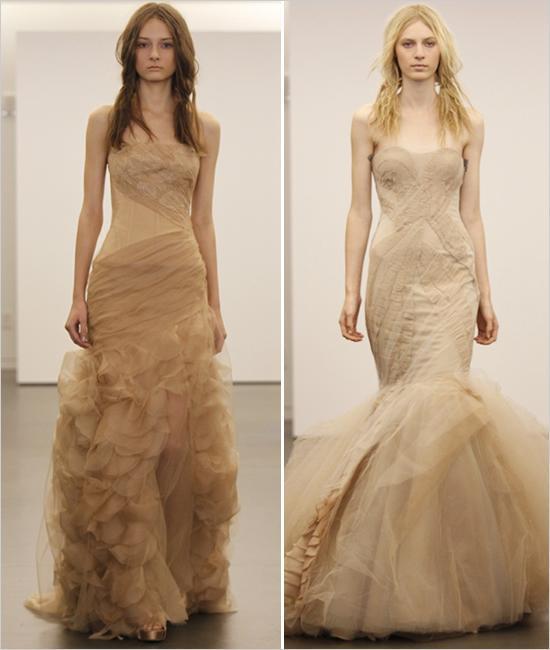 زفاف - فيرا وانغ فستان الزفاف عارية
