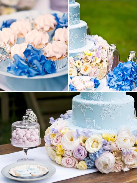 Свадьба - Синий свадебный торт
