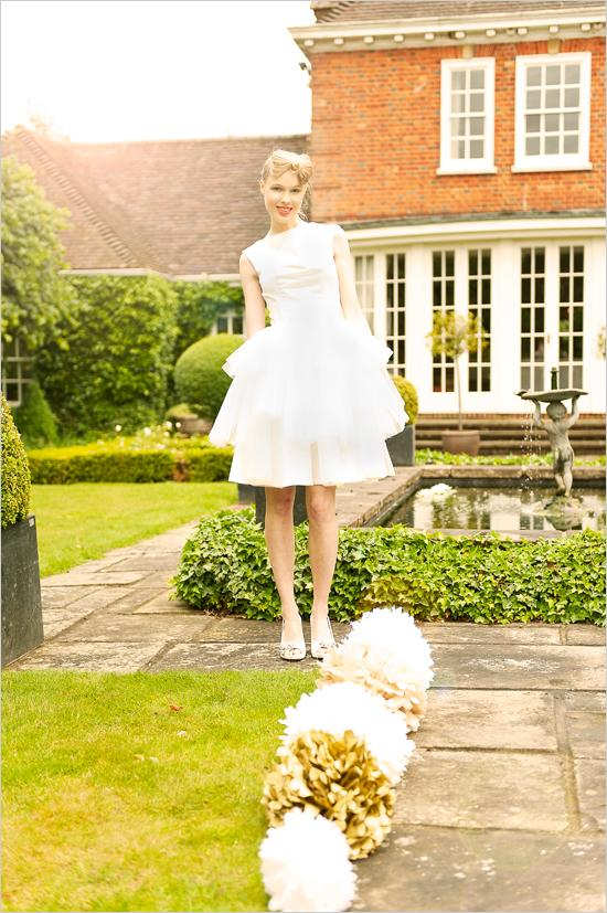 Mariage - Courte robe de mariage blanc