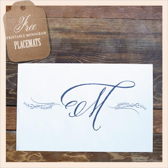 Diy free monogram placemats 792759 weddbook for Free monogram template
