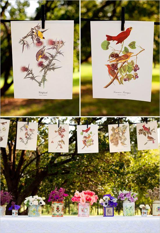 Hochzeit - Botanical Vogel Prints