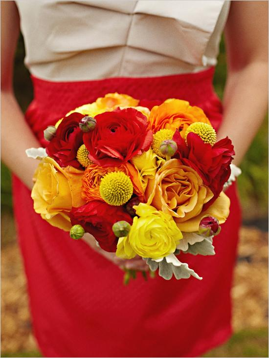 Wedding Flowers Red And Yellow : Yellow wedding red and bouquet
