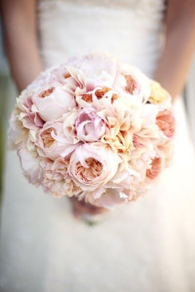 Bridal Flowers Blush Pink : Compact bridal bouquet romantic blush pink wedding