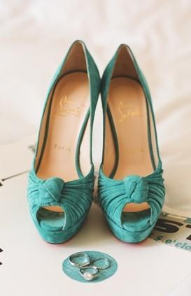 زفاف - أحذية لوبوتان المسيحي الزفاف مع أحمر قعر ♥ زفاف شيك وعصرية أحذية عالية الكعب