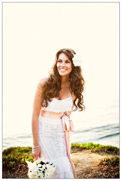 Boda - Peach vestido de novia