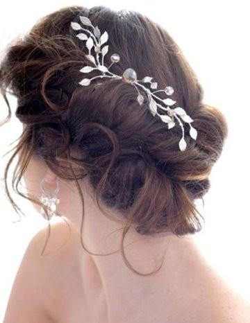 Hochzeit - Wunderschöne Messy Side Bun Hochzeit Hair