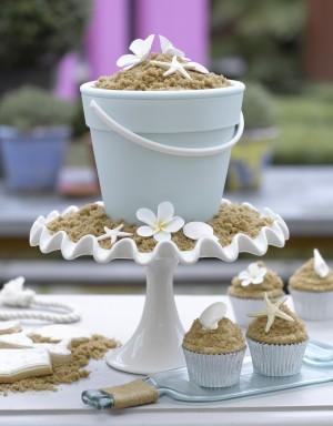 Weddings Cake Beach Themes Cupcake