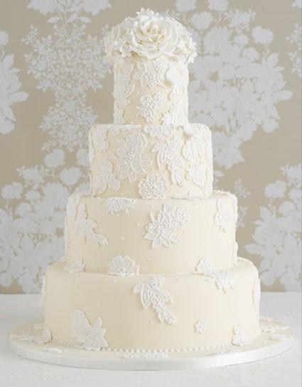 زفاف - كعك الزفاف الخاص فندان كعكة الزفاف لذيذ ♥