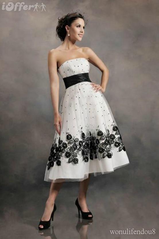Vestido de novia civil negro