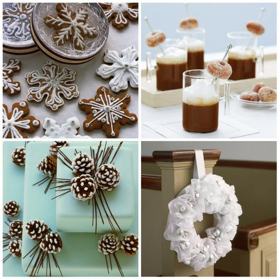 Pine Cone Wedding Cakes For Winter Or Christmas Weddings Snowflakes Cookies