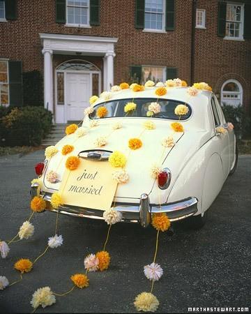 Hochzeit - Getaway Classic Wedding Car ♥ Just Married