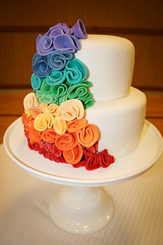 Hochzeit - Fondant Wedding Cakes ♥ Hochzeitstorte Design