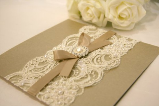 Wedding - DIY Vintage Wedding Invitations  ♥ Handmade Vintage Wedding Invitations