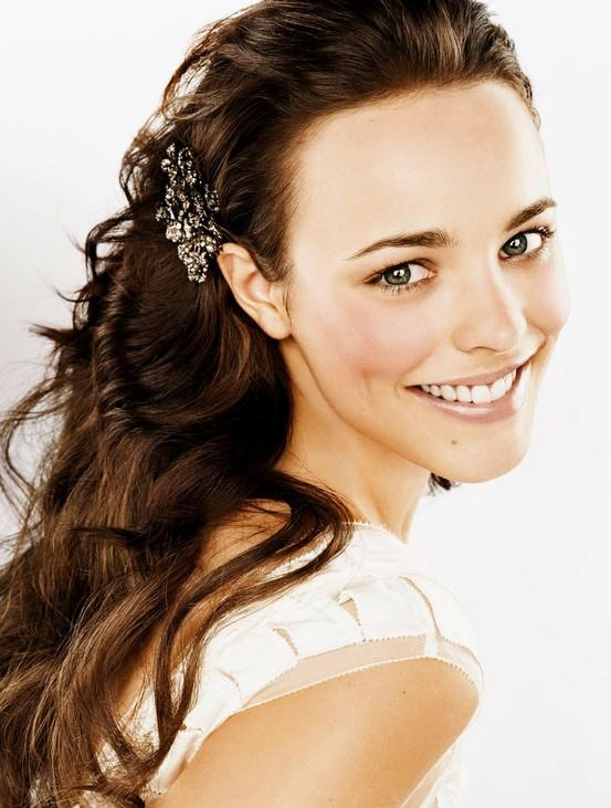 Wedding natural wedding hairstyles ♥ long loose curls wedding hair