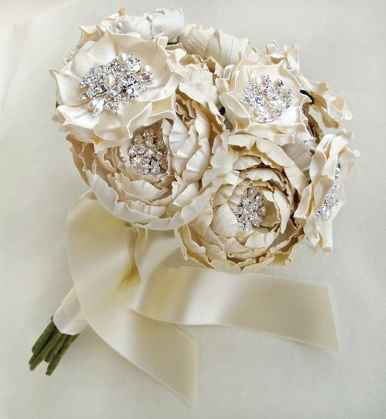 Wedding Flowers In Silk : Silk dresses bridal bouquets  weddbook