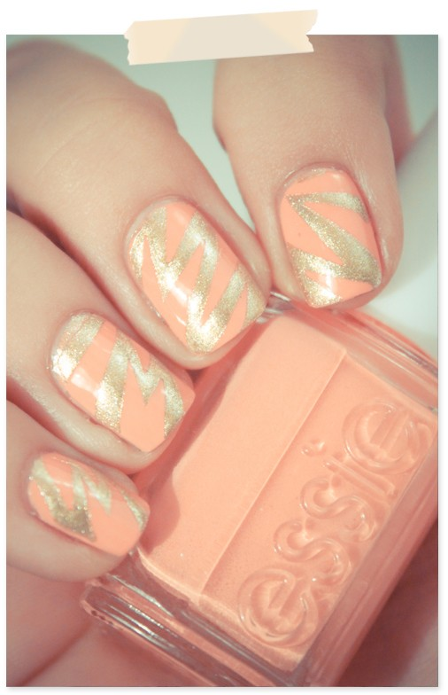 Peach wedding bridal nail designs wedding nail art 804888 bridal nail designs wedding nail art prinsesfo Images