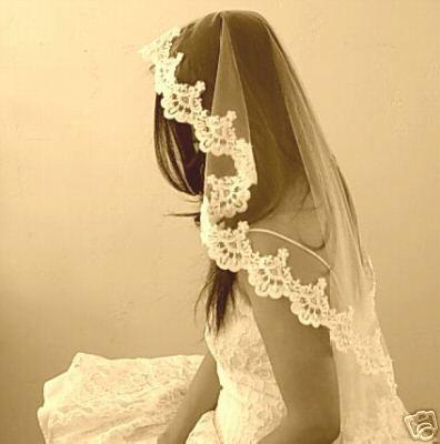 Mariage - Vintage Wedding Veil Mantilla