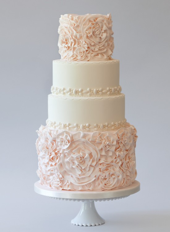 Chic Rosette Wedding Cakes ♥ Wedding Cake Design #805068 - Weddbook