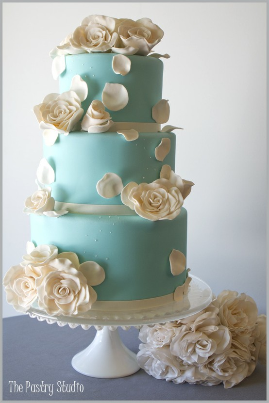Tiffany Blue Cake Design : Fondant Pasteles De Boda   Wedding Cake Design #805069 ...