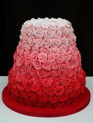 Rose Wedding Ombre Wedding Cake Design 805143 Weddbook