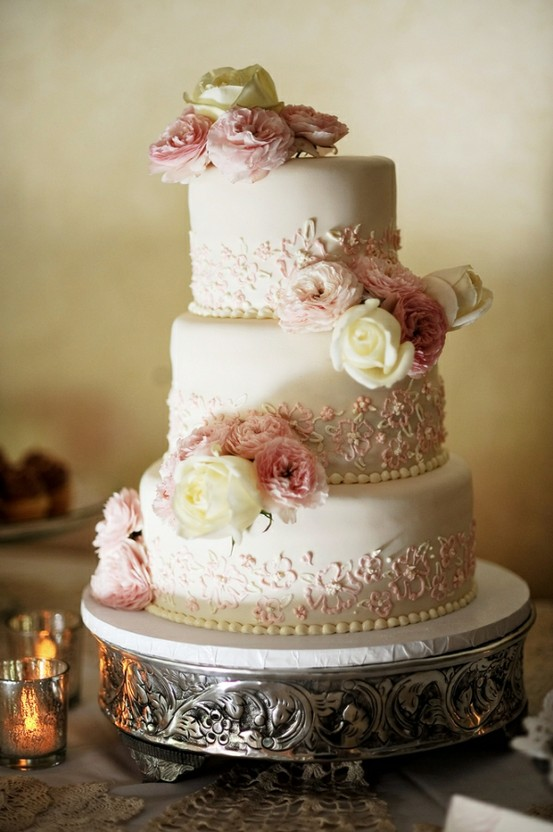 Vintage Wedding Cake Design : Fondant Wedding Cakes   Vintage Wedding Cake #805220 ...
