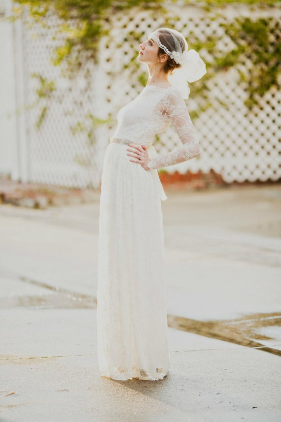 Wedding - Long Sleeved Wedding Dress