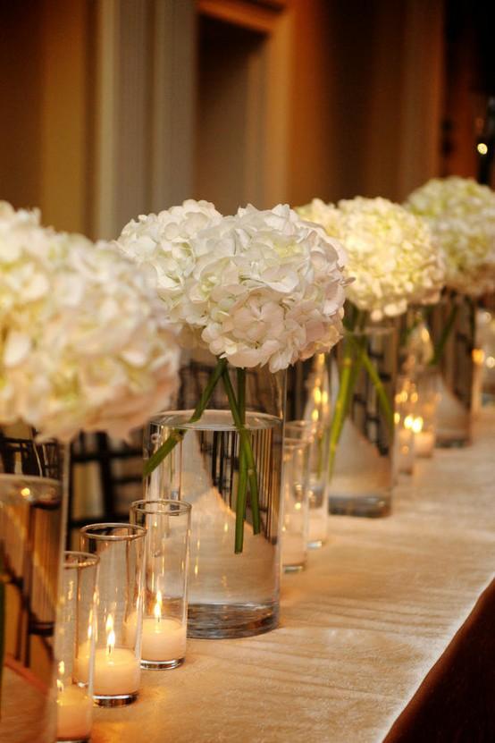 Mariage - Décor de table de mariage - Décoration florale