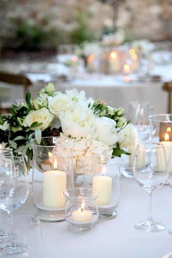 Wedding - White Wedding Table Decoration