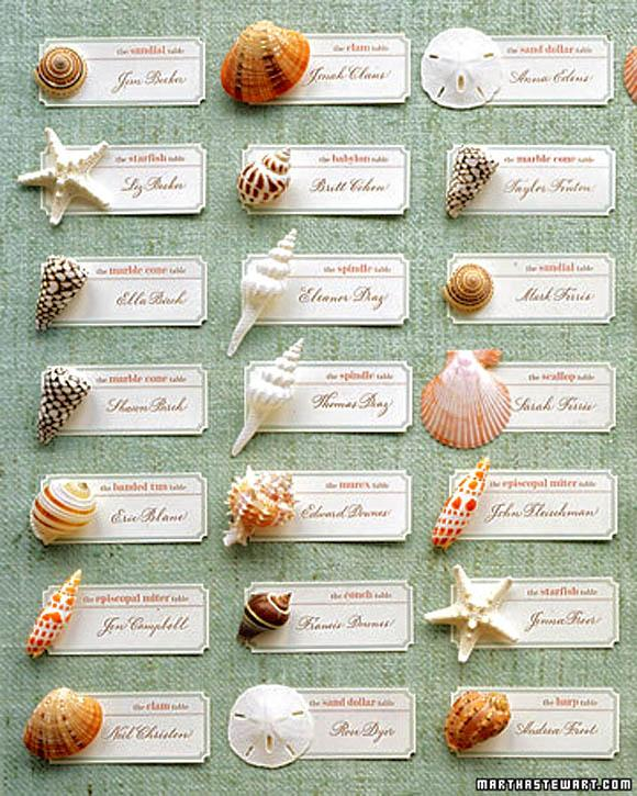 Unique creative wedding seating cards natural place Unique place card ideas
