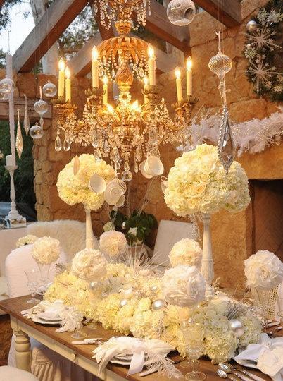 Fairy Wedding Elegant White Tablescape 817422