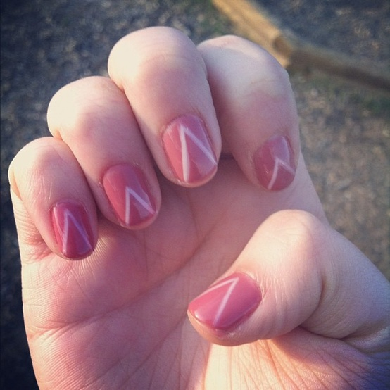 Chevron Nail Design One Nail Different Trend 888982 Weddbook