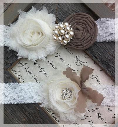 Свадьба - Vintage Подвязки Свадебные кружева