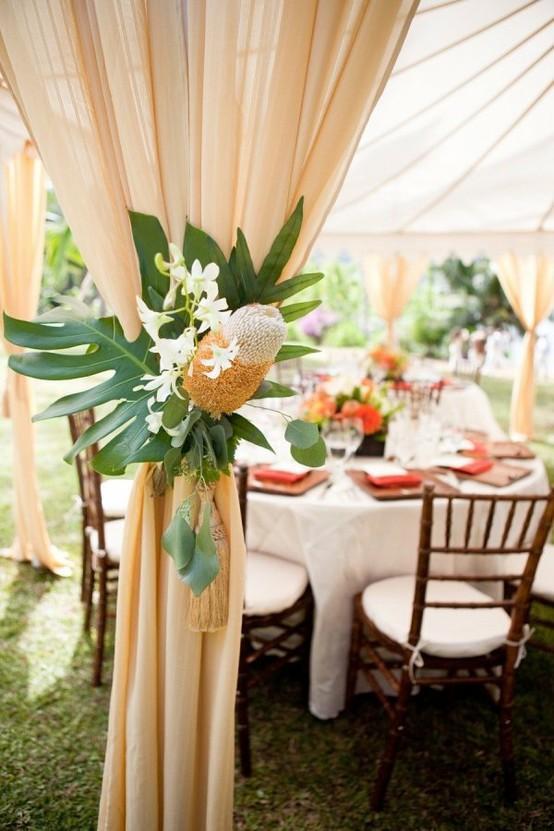Pics Photos Wedding Reception Decor At A Hawaii Wedding