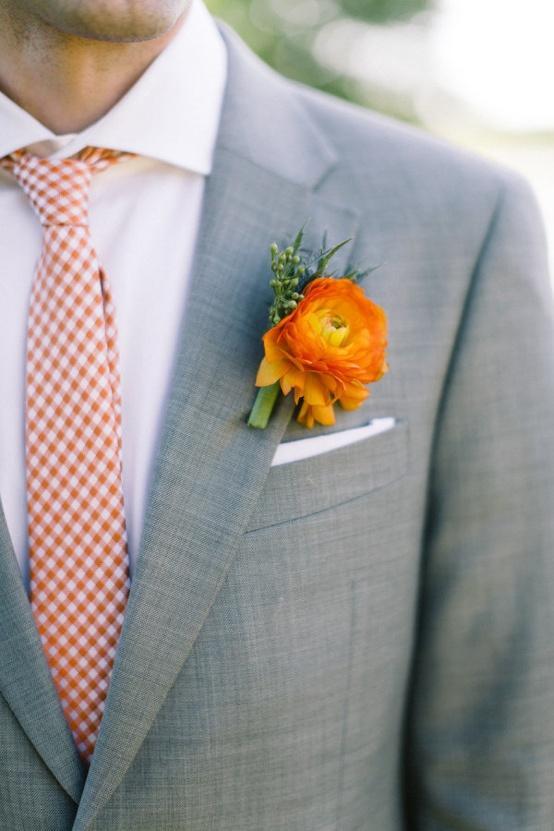 mariage orange orange tie boutonniere 901732 weddbook. Black Bedroom Furniture Sets. Home Design Ideas