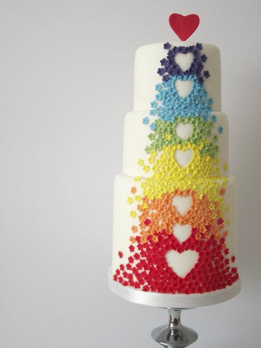 Wedding Cake Decorated With Hearts : Cake - Cakes #905914 - Weddbook