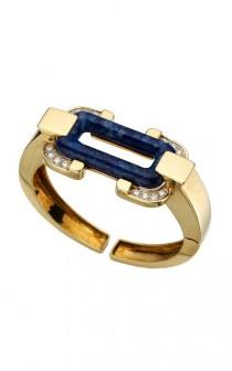 wedding photo - Алмазный Luxury & Ляпис манжеты ♥ Великолепная манжеты золото