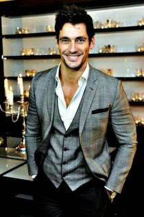 wedding photo - Handsome British Model David Gandy ♥ Cool Groom Suits Idea