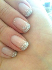wedding photo - Glitter Oro Striping Tape manicura francesa