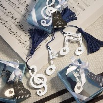 wedding photo - Musical Note Bookmark Favors wedding favors