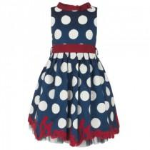 wedding photo -  Navy Polka Dot Dress