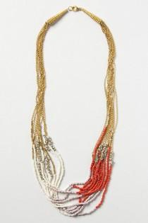 wedding photo -  Twisted Strands Coral Necklace