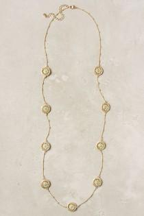 wedding photo -  Gold Chain Necklace with Turquoise Details